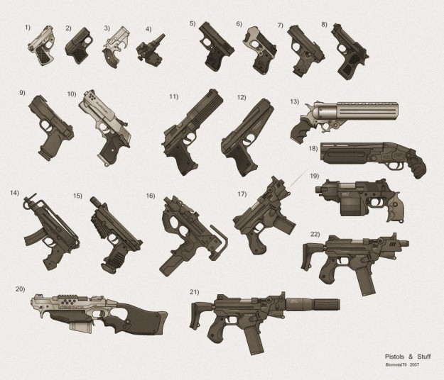 My_Shadowrun_Gun_Collection_1_by_biometal79