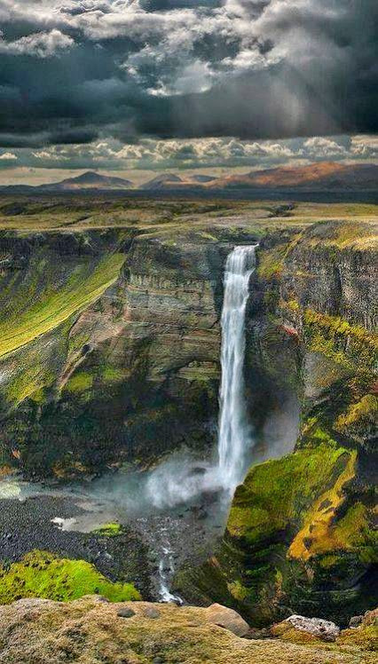 Haifoss Waterfall, Iceland.