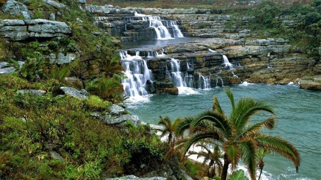 Horseshoe Falls in Mkambati Nature Reserve, Pondoland, South Africa.