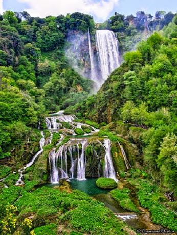 Marmore Falls, Umbria, Italy,,
