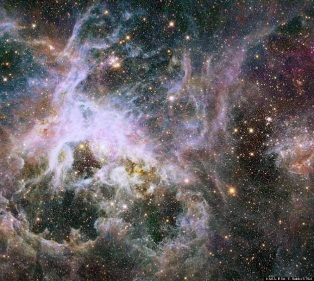 New Hubble infrared view of the Tarantula Nebula