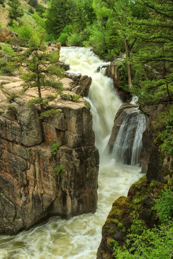 Shell Falls, Bighorn National Forest, Wyoming, June, 2010 por Norm Powell en Fivehundredpx