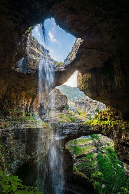 The Baatara gorge waterfall (Balaa gorge waterfall) is a waterfall in the Tannourine, Lebanon.