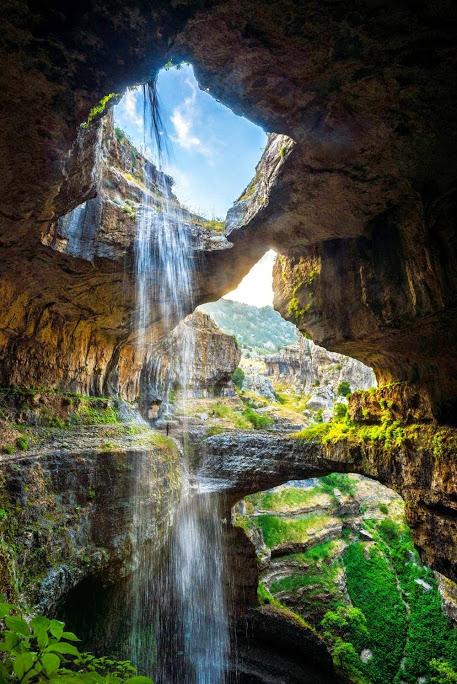 Baatara Gorge waterfall , Lebanon 1