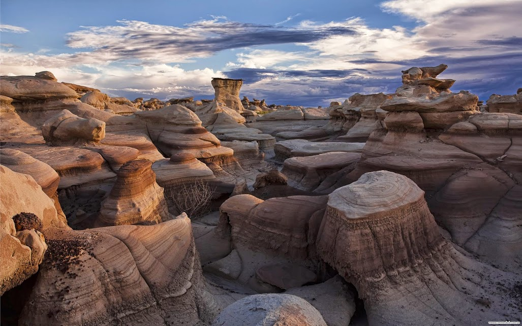 Bisti Badlands in San Juan County, New Mexico