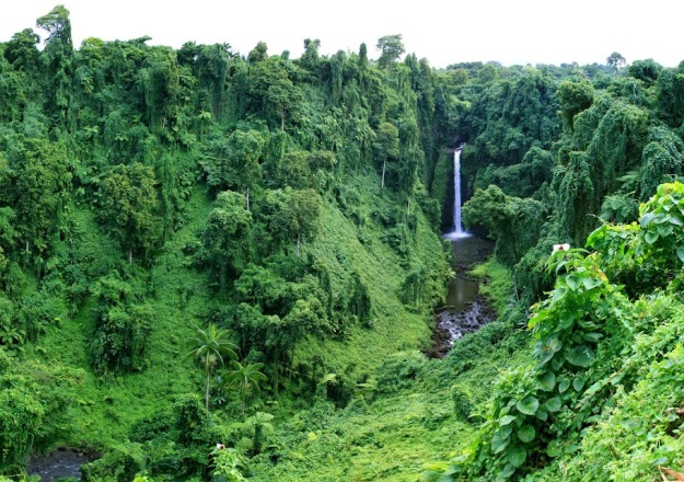 Sopoaga Falls is located in Samoa. The estimate terrain elevation above seal level is 135 metres.