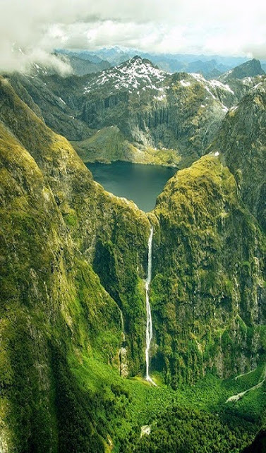 Sutherland Falls,Manapouri,New Zealand