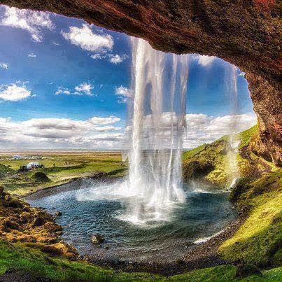 Waterfall Sagalandzvos in Iceland