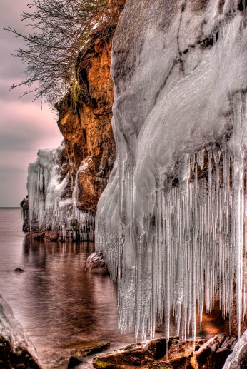 Ice Cliff by Binary Blogger on 500px.... From the shores of Lake Superior the ice forms. #forzen #ice #lake #lake superior #minnesota #weather #winter