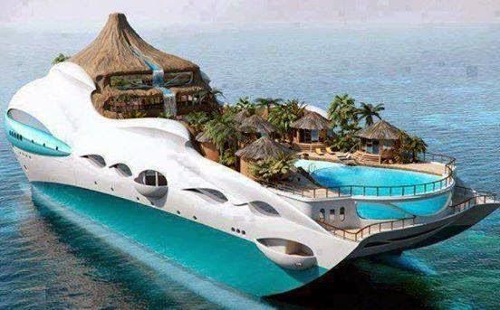 Tropical Island Yacht Cruise Ship UK