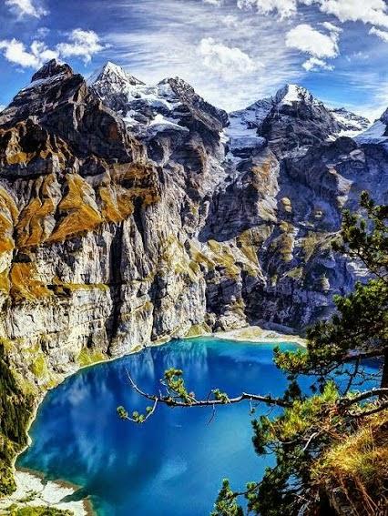 LAKE OESCHINEW SWITZERLAND-