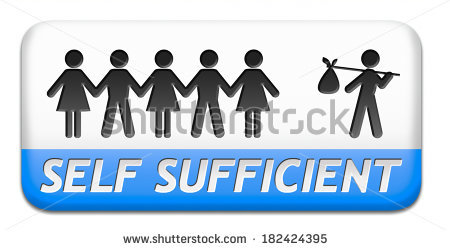 stock-photo-self-sufficiency-sustainable-renewable-energy-and-agriculture-auto-sufficient-and-simple-living-182424395