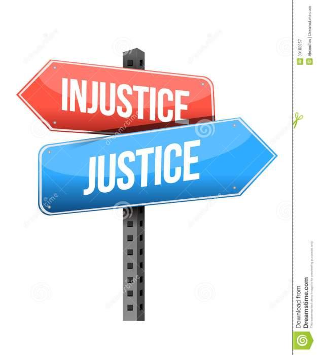 injustice-versus-justice-road-sign-illustration-design-over-white-background-30103257