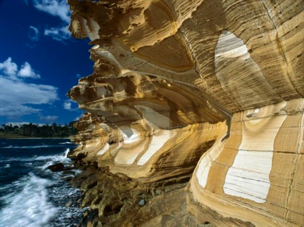 Painted Cliffs, Maria Island National Park, Tasmania, Australia