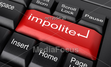 Word Impolite On Keyboard