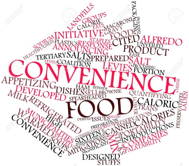 Abstract Word Cloud For Convenience Food With Related Tags And Terms Stock Photo Uldissprogis