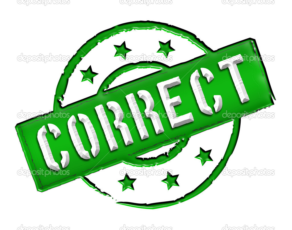 """Sign and stamp named """"CORRECT"""" for your presentation, for websites and many more."""