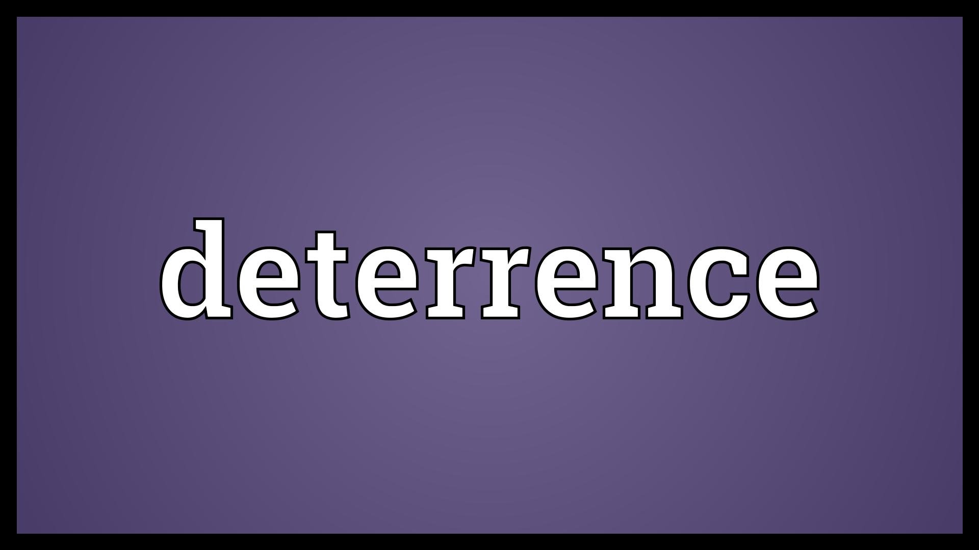 detterence Deterrence is a hunter ability learned at level 78 it reduces all damage taken by 30% and causes all melee, ranged and spell attacks against the hunter to be deflected, but leaves the hunter unable to attack for the duration.
