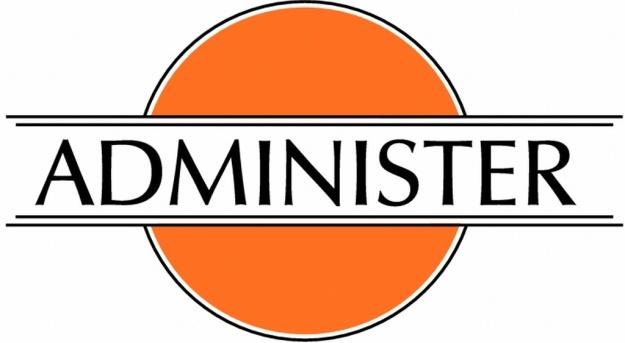 Administer logo 1024 white