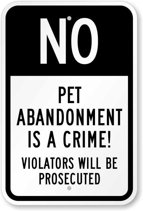 pet-abandonment-crime-sign-k-0109