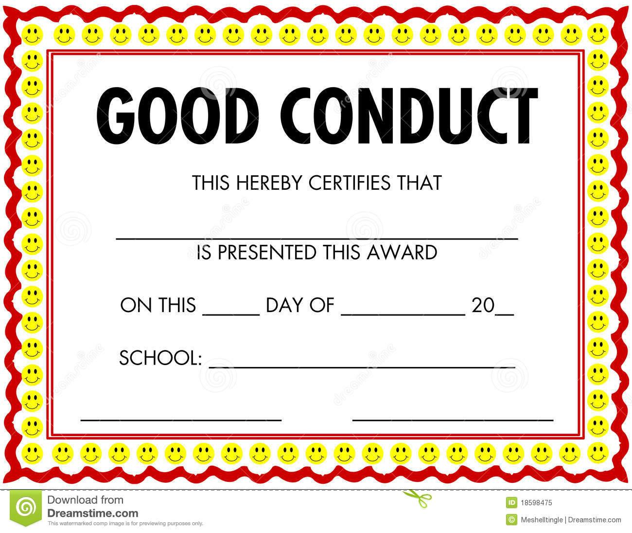 award-certificate-good-conduct-18598475