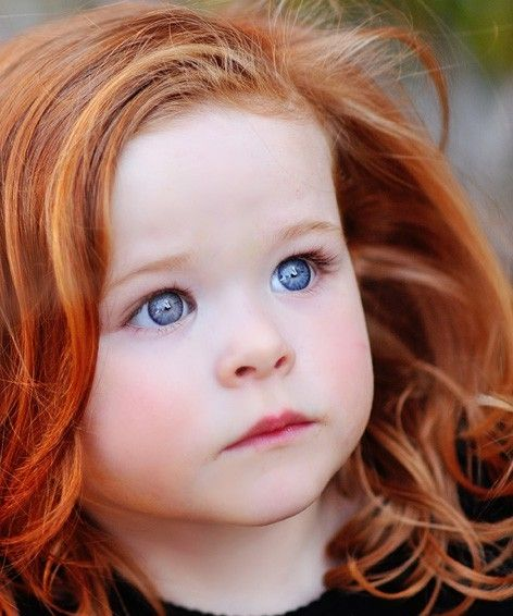 blue eyes and red hair- Wow!! As a little girl I used to wish I had red curly hair, green eyes, and tons of freckles, and wanted my name to be Kelly.