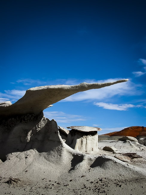 """""""From more than 1000 entries, we selected Albuquerque entrant Joe Bridwell's shot of the Bisti Badlands for this month's Cover."""" Cover, New Mexico Magazine, Jan., 2006."""