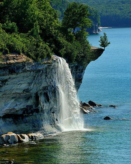 Spray Falls Michigan's Pictured Rocks National Lakeshore